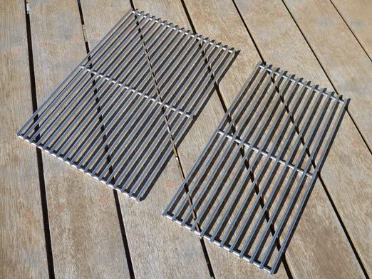 Solid Stainless Steel Grills