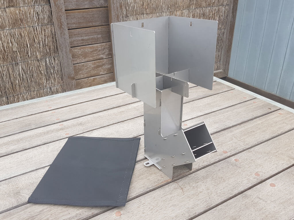 SLOT ME IN™ Aussie Rocket Stove SS™ Combo Kit.