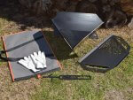 Equilateral Fire Pit™ XP, SS & AE Camper Combo Kits