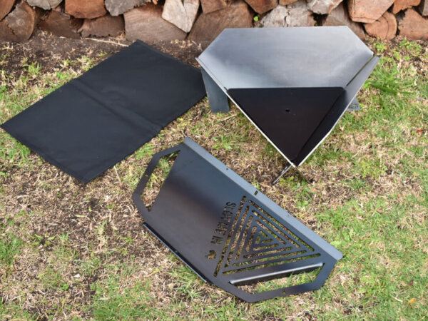 Equilateral Fire Pit™ XP Camper & XP Combo Grill / Hot Plate Kit