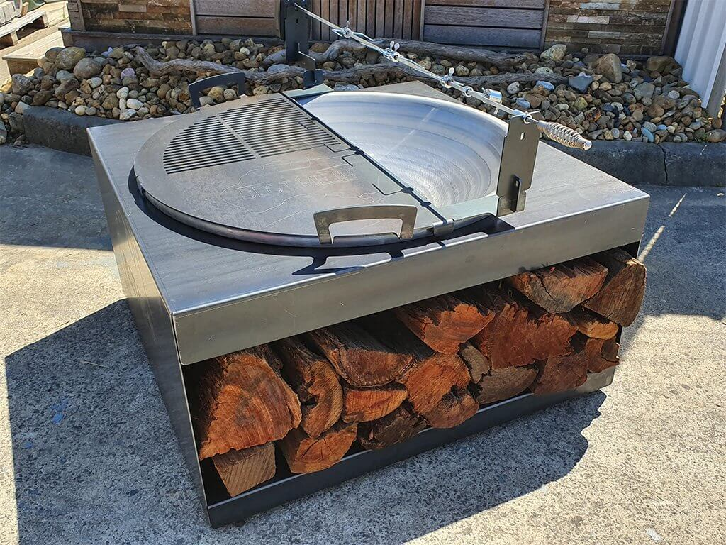 SMI Dish Fire Bowl™ Fire Wood Trolley Package