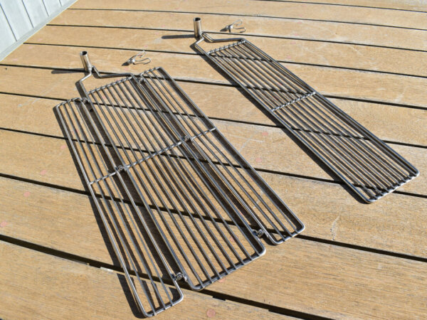 Auspit Stainless Steel Single & Double Folding Grills - Auspit