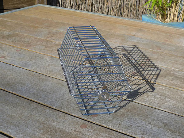 Hexagonal Spit Rotisserie Basket (304,18/10 Stainless Steel) to suit 8mm rotisserie shafts