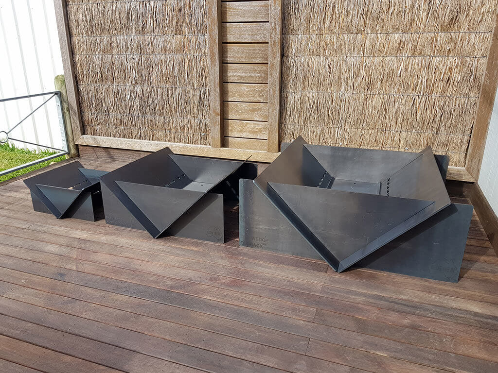 Get ready for winter early with our ORIGINAL and total FLAT PACK fire pits for home or commercial use.