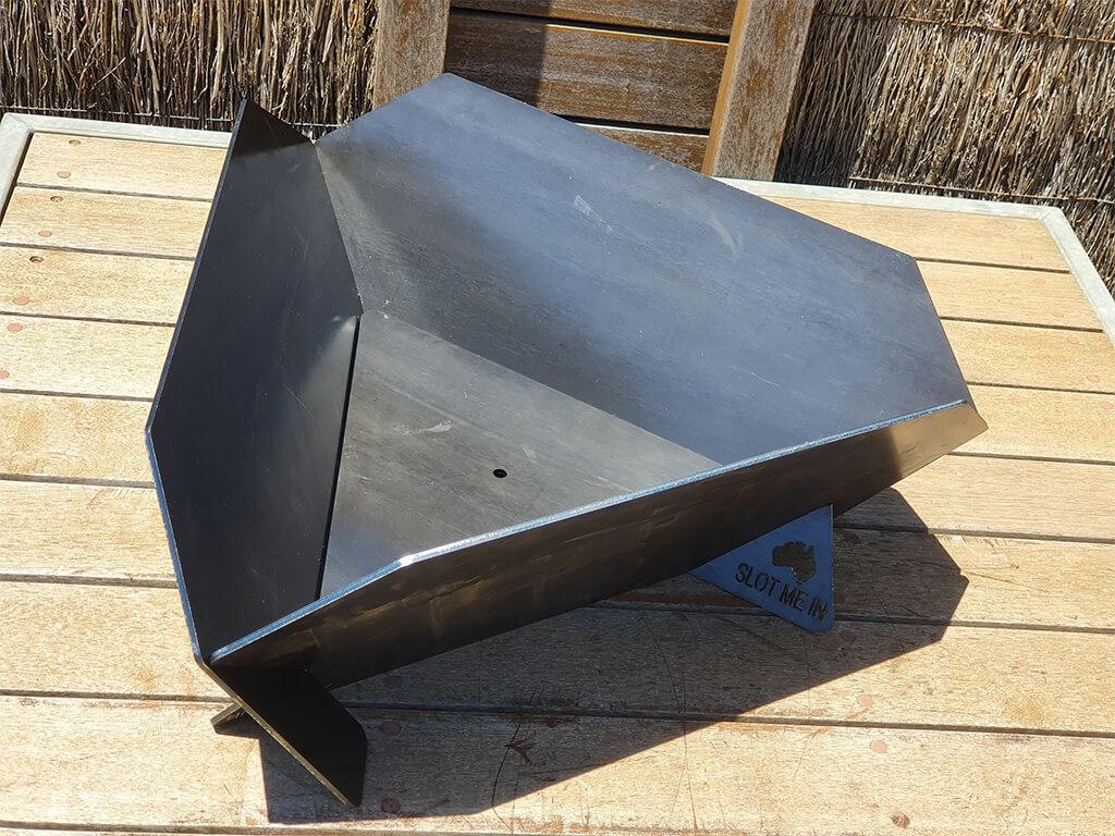 SLOT ME IN™ Equilateral Fire Pits™ (Solid Sided™ & Supaflow Sided™ models)