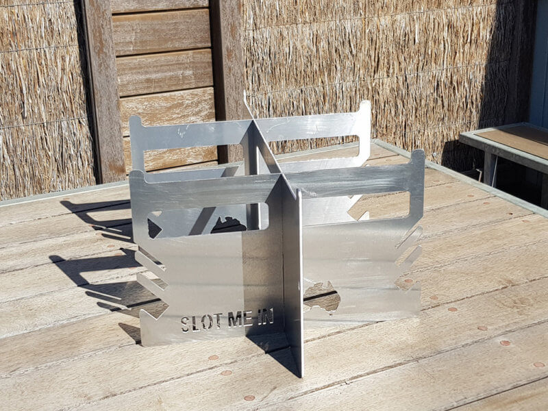 Slot Me In - THE WEDGE FIRE PIT™ STAND & ORGANIZER
