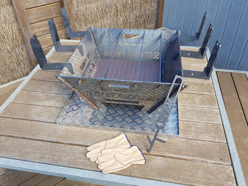 The Wombat Fire Pit & Camp Cooker™